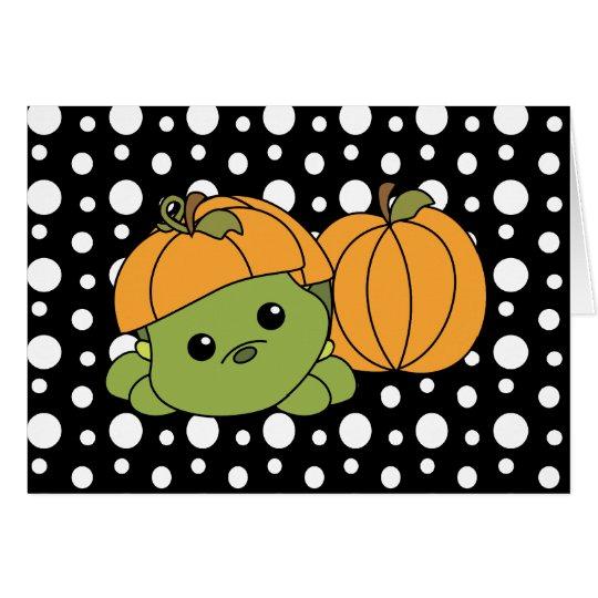 Turtle Cutie in a Pumpkin Suit! Card