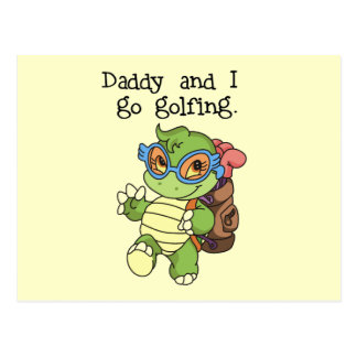 Turtle Daddy and I Go Golfing Tshirts and Gifts Postcard