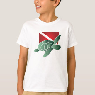 Turtle Dive Flag Kids T-shirt