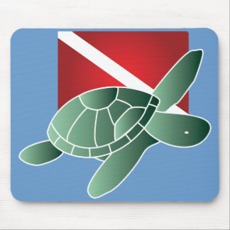 Turtle Dive Flag Mousepad