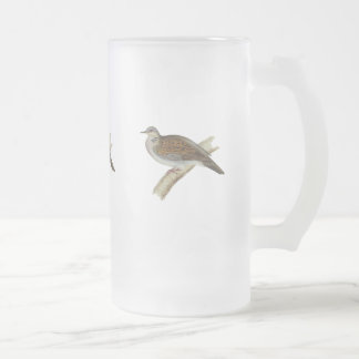 Turtle Dove Frosted Glass Beer Mug
