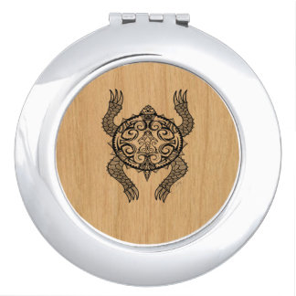 Turtle Drawing Compact Mirrors