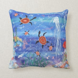 Turtle Dreaming Pillow Throw Cushion