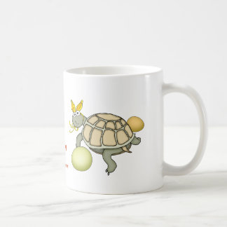 Turtle Easter Bunny with Eggs! Coffee Mug
