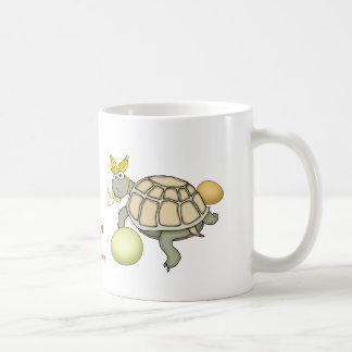 Turtle Easter Bunny with Eggs Mug