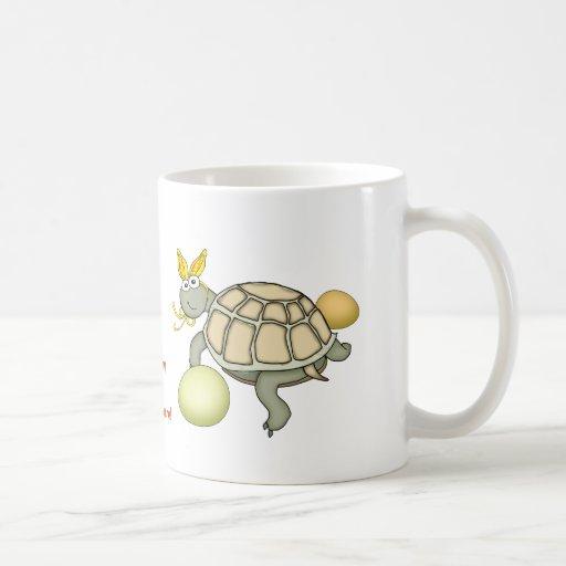 Turtle Easter Bunny with Eggs! Mug