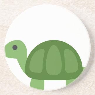 Turtle Emoji Beverage Coasters