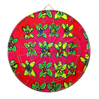 Turtle flower art dartboard