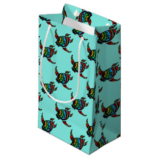 Turtle Gift Wrapping Paper and Accessories Small Gift Bag