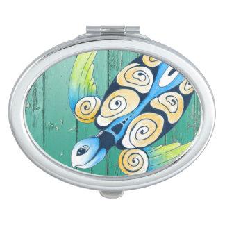 turtle green wood vanity mirror