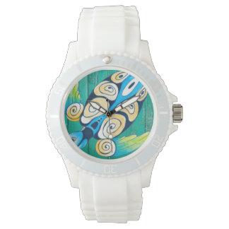 turtle green wood watch