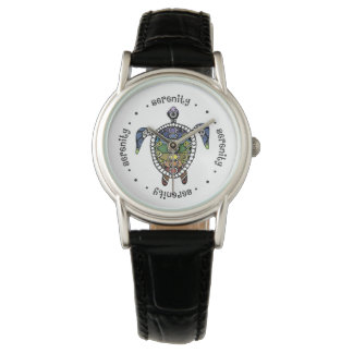 Turtle Harmony Classic Black Leather Watch