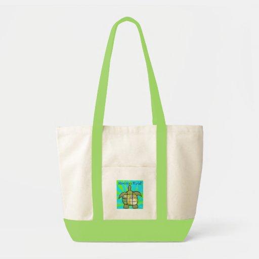 Turtle, Hawaiian Style! (Green/Tan) Tote Bag