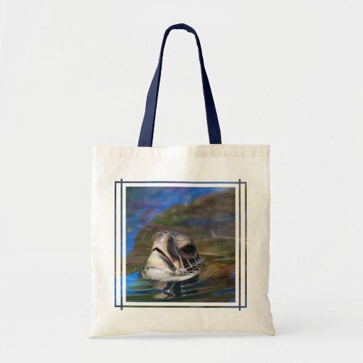 Turtle Head Canvas Bags