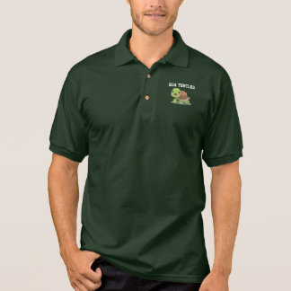 Turtle Illustration Laughing Cute Polo Shirt