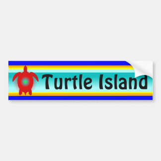 TURTLE ISLAND bumper sticker