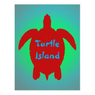 TURTLE ISLAND postcard