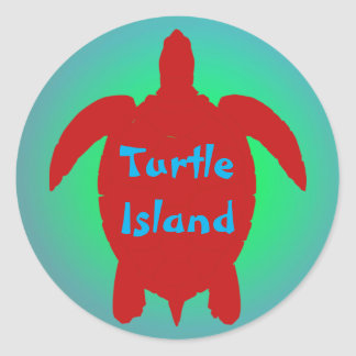 TURTLE ISLAND sticker