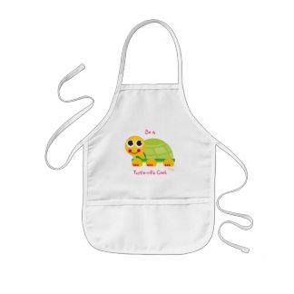 "Turtle Kids Apron ""Be a Turtle-rific Cook"""