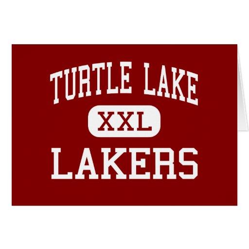 Turtle Lake - Lakers - High - Turtle Lake Greeting Cards