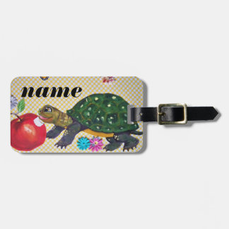 Turtle Luggage Tag Boy's Child's Kid's Personalize