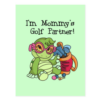 Turtle Mommy s Golf Partner T-shirts and Gifts Postcard
