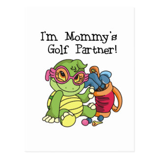 Turtle Mommy's Golf Partner T-shirts and Gifts Postcard