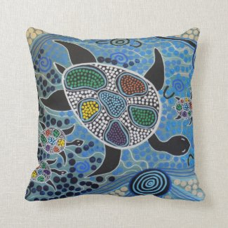 turtle Mother Dreaming Pillow Cushion