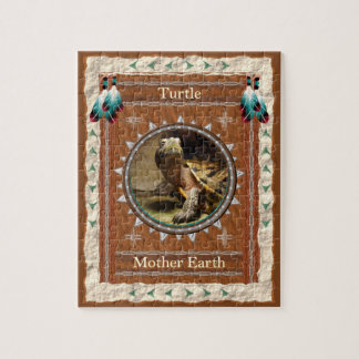 Turtle  -Mother Earth- Jigsaw Puzzle w/ Box