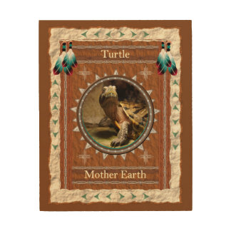 Turtle  -Mother Earth- Wood Canvas