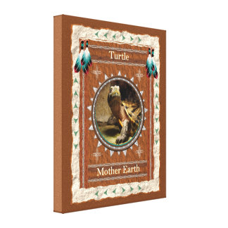 Turtle  -Mother Earth- Wrapped Canvas