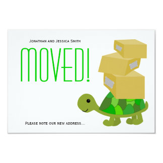 Turtle Moving Boxes New Address Announcement