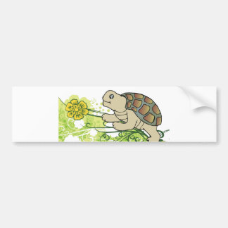 Turtle On Vines Car Bumper Sticker