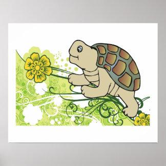 Turtle On Vines Print