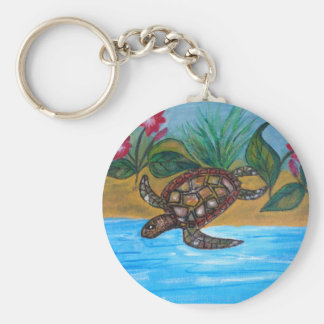 Turtle or tortoise accessories basic round button key ring