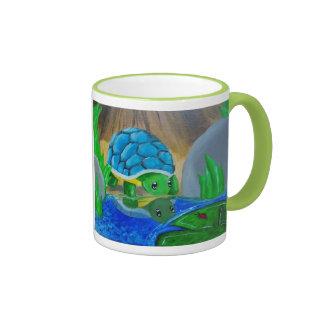 turtle painting mug