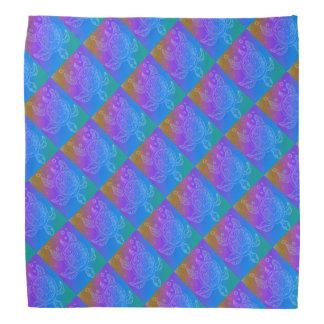 Turtle Rainbow Pattern Bandana