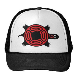 Turtle Red & Black Cap