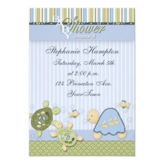 Turtle Reef and Gold Fish Baby Shower Invitation