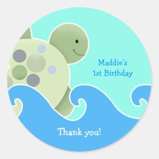 Turtle Reef Baby Shower / Birthday Favor Sticker