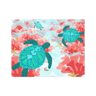 Turtle Reef Print - Coral, Starfish, Clown fish