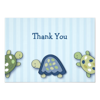 Turtle Reef Turtle Flat Thank You Note Cards