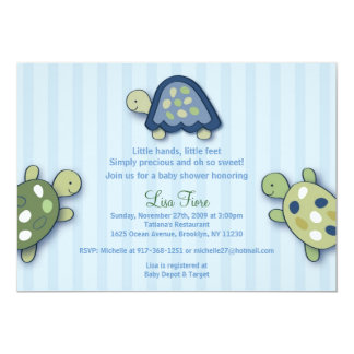 Turtle Reef Turtles Custom Baby Shower Invitations