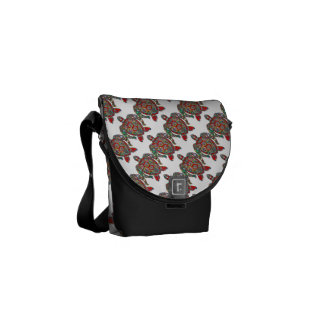 Turtle Reptile Animal Pattern Destiny Destiny's Courier Bag