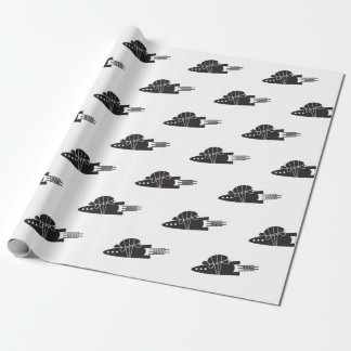 turtle riding a rocket  🐢  🚀 wrapping paper