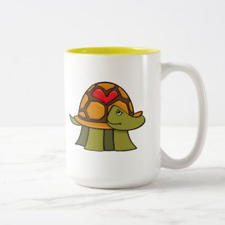 Turtle Shell Heart Two-Tone Coffee Mug