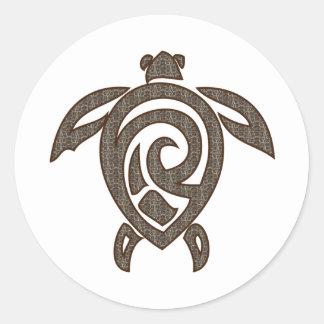 Turtle-shell-print Classic Round Sticker