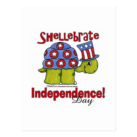 Turtle Shellebrate Independence Day! Postcard