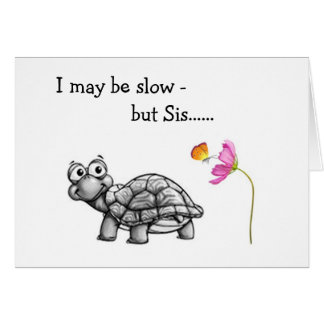 TURTLE SLOW/SINCER ON SISTER'S BIRTHDAY CARD