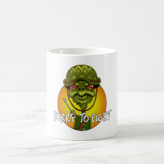 turtle soldier - funny army character coffee mug